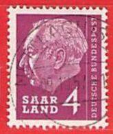 MiNr.383 O Deutschland Saarland (1957-1959) - Oblitérés
