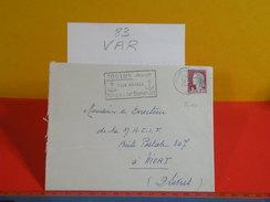 Marcophilie > Lettre > Flamme > 83 Var > Toulon - Sa Tour Royale, Musique D'art Dramatique - 1964 - Marcofilia (sobres)