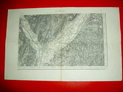 Carte Etat-major  Type 1889  Grenoble S.E.   N°178 - Topographische Karten