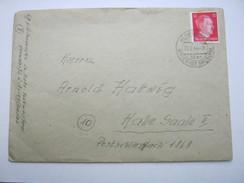 1944 , HERMSDORF über  Brieg      , Klarer Landpost  Stempel Auf Brief , Absender Funkmeisterei - Briefe U. Dokumente