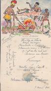 Menu à Dessin Original/Anthropophages Et Blanc Cuit à La Broche/Dessiné Et Peint Main /G D/ 1942      MENU179 - Menu