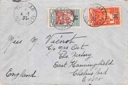 LETTRE DE TARAVAO TAHITI OCEANIE => ANGLETERRE FRANCE COLONIES COVER - Tahiti
