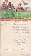 Menu à Dessin Original/Banquet Médiéval /Dessiné Et Peint Main /G D/ 1942      MENU180 - Menus