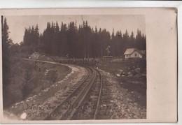 TATRY .. Strbske Pleso 15.5.1926, Stanica , Bahnhof , Zastavka , Haltestelle ,  Rack Railway  , Zahnbahn - Slovaquie