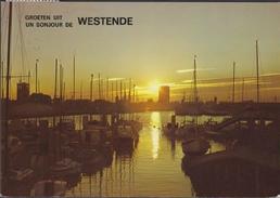 Grote Kaart Westende Groeten Uit Un Bonjour De - Westende