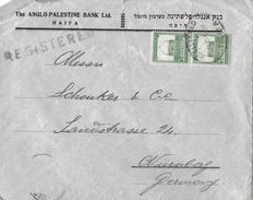 PALESTINA / Haifa Nach Nürnberg → Registered-Letter  1931 - Palestine