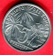 COMORES ESSAI  5 FRANC 1964  (G 36 ) TTB+  20 - Comoros