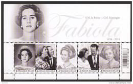 Belg. 2015 - COB N° 4485 à 4489 ** - Hommage à S.M. La Reine Fabiola (bloc 223) - Blokken 1962-....