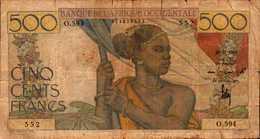 AFRIQUE OCCIDENTALE  500 FRANCS Du 22-12-1950  Pick 41 TRES  RARE - West African States