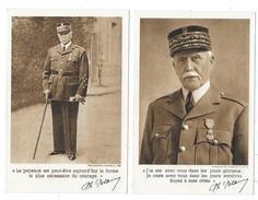 Cpa: GUERRE - PHILIPPE PETAIN - 4 Cartes Au Profit Du Secours National 1941 - Personen