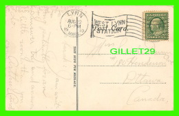 ENTIERS POSTAUX, LYNN. MA - 1910 - TABLETS TO REVOLUTIONARY HEROES -