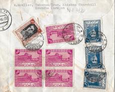 TEHERAN / Iran → Registered Cover Very Nice Stamps Köln 1949 - Iran