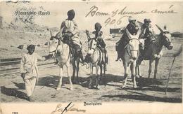 ALEXANDRIE (égypte) - Bouriquier,promenade Avec Des ânes. - Anes
