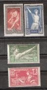 France 1924, Série Jeux Olympiques De Paris / Olympics / JO Yvert 183 / 186, Neuve * / MH TB , Cote 45 Euros