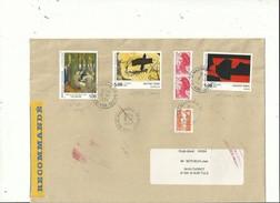 """22 L Avec """"tableaux""""(1965 à1993) Dont 10 LR....affranchissements Philatéliques ...multi Timbres....à Voir.. - Marcofilia (sobres)"""