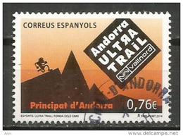 Andorra Ultra Trail Vallnord 2014, Un Timbre Oblitéré, 1 ère Qualité, Cachet Rond - Gebraucht