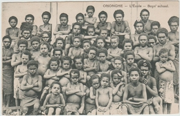 ONONGHE (PAPOUASIE NOUVELLE GUINEE) - L'ECOLE - BOYS SCHOOL - Papoea-Nieuw-Guinea