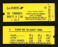 FRANCE - CARNET YT 2715-C6 - FERME - DATE - Confectionneuse 6 - Markenheftchen