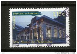 Musée De L´Electricité à Andorre. émission 2014 , Un Timbre Oblitéré, 1 ère Qualité, Cachet Rond - Gebraucht