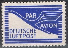 Sello Viñeta ALEMANIA Federa. Deutsche Luftpost, Correo Aereo, Lanel Cinderella * - Abarten