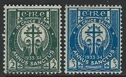 Ireland  1933  Sc#88-9   Holy Year Set  MLH*  2016 Scott Value $3.65 - 1922-37 Irischer Freistaat