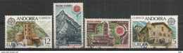 ANDORRE/ANDORRA.  EUROPA 1978, Maison De Charlemagne Et Monuments, Deux Timbres Oblitérés. 1 ère Qualité - Andorre Français