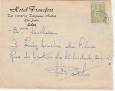 Cover :: Hotel Francfort :: Lisboa :: Portugal (carimbo De 1951 Dos Correios Do Porto) Identify Date - Werbung