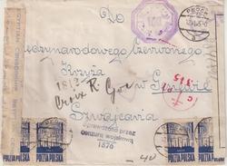 """POLOGNE : POUR LE CICR . A """" GENEVE """" . DIVERSES CENSURES ET TRANSITS . 1945 . - 1939-44: 2. WK"""