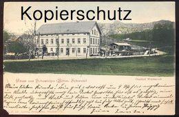 ALTE POSTKARTE GRUSS AUS HOHENLEIPA GASTHOF WALDESRUH Vysoka Lipa Böhmische Schweiz Böhmen Ceska Sudeten Boehmen AK Cpa - Sudeten