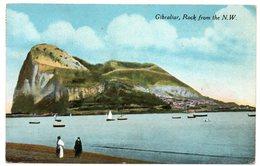 GIBRALTAR - ROCK FROM THE N.W. - 1918 - Gibilterra