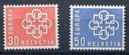 Switzerland  Sc# 374-375  MNH Complete Set  1959 - Zwitserland