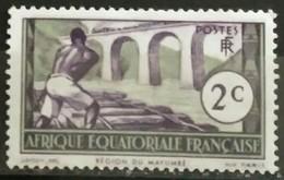 AFRICA ECUATORIAL FRANCESA 1937 Definitive Issues - Logging On Loeme River. NUEVO - MH* - Nuevos