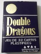 JEU DE 32 CARTES PLASTIFIEES DOUBLE DRAGONS N° 232 NEUF . DRAGON - 32 Cards
