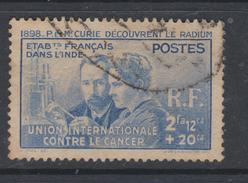 Inde N° 115 O  Pierre Et Marie Curie Oblitération Légère Sinon TB