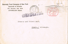 20488. Carta BRUXELLES (Belgien) 1931. CONFIDENTIEL - Bélgica