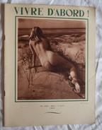 Ancienne Revue VIVRE D'ABORD 1951 Naturisme Femme Nue Homme Nu Nus Erotique Pin'up - Erotic (...-1960)