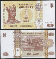 Moldova DEALER LOT ( 5 Pcs ) P 8 F - 1 Leu 2005 - UNC - Moldavia