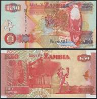 Zambia DEALER LOT ( 5 Pcs ) P 37 E - 50 Kwacha 2006 Printer SABN - UNC - Zambia