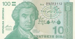 100 HRVATSKIH DINAR,STO DINARA, 1991, PAPER BANKNOTE, CROATIA. - Croatie