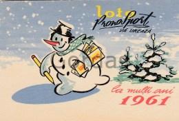 Romania - 1961 - Loto Pronosport - Pocket Calendar - Calendars