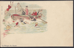"""THEMES - Carte Postale D'après Guillaume """" La Barque De Dante """" Imp. Camis Paris - 2 Scans - - Guillaume"""