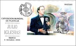Cantante JULIO IGLESIAS - Singer. Madrid 2000 - Cantanti