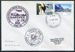 2006 A.A.T. Hobart Tasmania, Gondwana Station GANOVEX German Antarctic North Victoria Land Expedition Penguins Cover - Covers & Documents