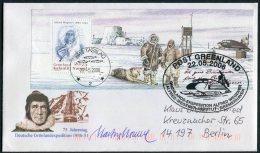 2006 Greenland Alfred Wegener Expedition Miniature Sheet Tasiilaq Signed Cover. - Greenland