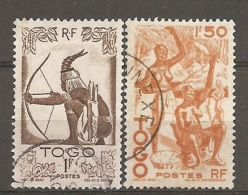 TOGO -  Yv. N° 240,242   (o)  1f, 1f50,   Cote  1,25 Euro  BE - Togo (1914-1960)
