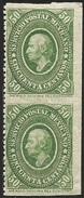 G)1884 MEXICO, VERTICAL STRIP IMPERFORATE 50 CTS. GREEN, MINT - Mexico