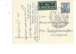 15970 - Christkindl  Carte 24.12.1962  Pour Sasbach Bad DE + Vignette über Christkindl - Kerstmis