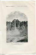 AIGUILLE DE CHAMBEYRON  Alpi Cozie Saint-Paul-sur-Ubaye Alpes-de-Haute-Provence  - Estratto Del 1894 - Livres, BD, Revues