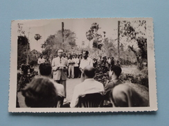 Inhuldiging Van Een Kunstwerk ANLONG-KONG (Khong) SISOWATH - Anno 1955 ( Fotokaart / Zie Foto Details ) !! - Cambodia