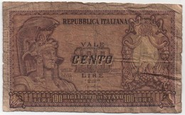 Billet De Banque ITALIE - 100 Lire De 1951 - [ 2] 1946-… : Républic